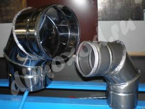 Отвод для дымохода 90 гр. нержавейка 0.5мм