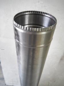 Труба для дымохода ф150 L-0.5м-1мм нержавейка