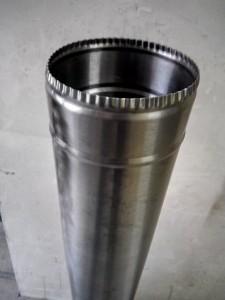 Труба для дымохода нержавейка (1мм) ф150мм